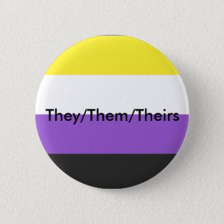 Nonbinary eux/eux/leur bouton de pronom badge rond 5 cm