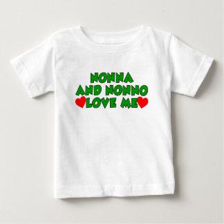 Nonna et Nonno m'aiment T-shirt Pour Bébé