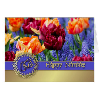 Norooz heureux. Cartes personnalisables persanes