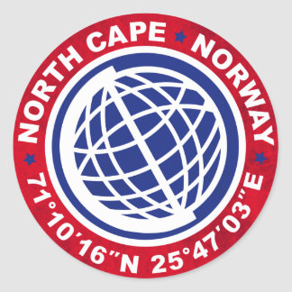 NORTH CHÂTRE SPECIAL NORWAY STICKER ROND