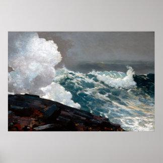 Northeaster de Winslow Homer Poster