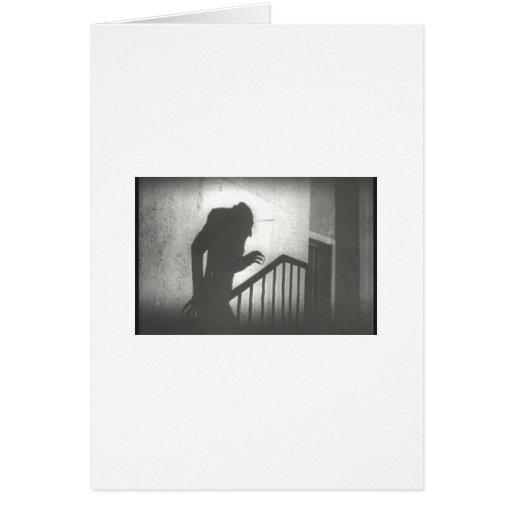 Nosferatu rampant les escaliers carte de vœux