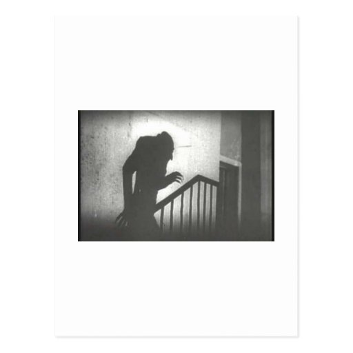Nosferatu rampant les escaliers carte postale