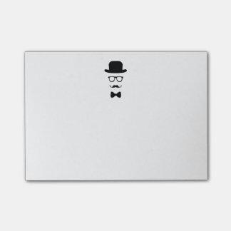 Note 4x3 de Courrier-it® de visage de hippie
