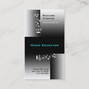 Note De Carte Visite Dducateur Musique