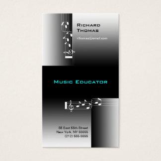 Note de carte de visite d'éducateur de musique