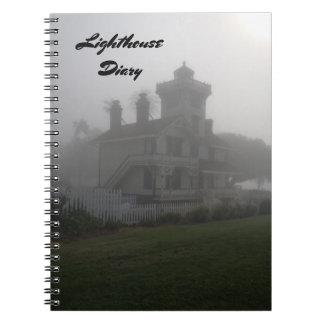 Note de journal intime de phare de voyage de livre