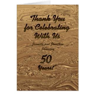 Note de Merci d'anniversaire de mariage d'or Carte De Correspondance
