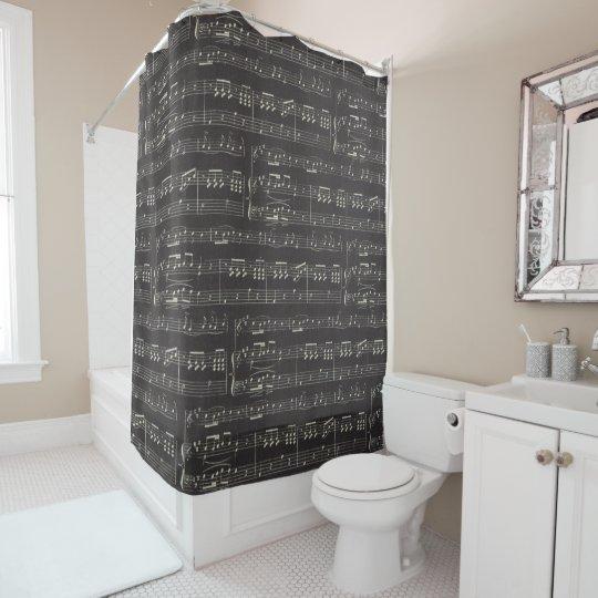 note de musique et rideau en douche de symbole zazzle. Black Bedroom Furniture Sets. Home Design Ideas