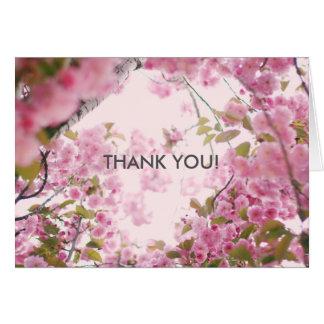 Note florale de Merci Carte