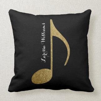 note musicale avec du son or et noir nommés coussins carrés