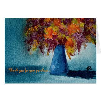 Notecard met het Kleurrijke Bloemen Schilderen van Kaart