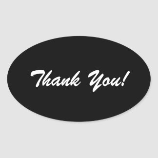 Notes brillantes noires et blanches de Merci Sticker Ovale