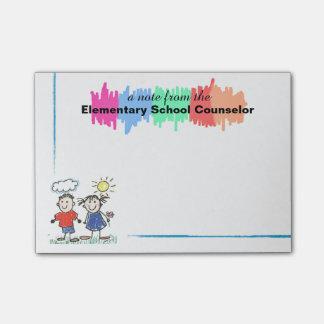 Notes collantes de conseiller coloré d'école post-it®