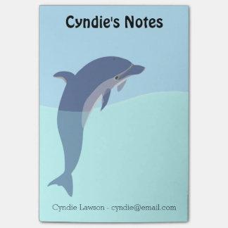 Notes collantes de dauphin personnalisable post-it®