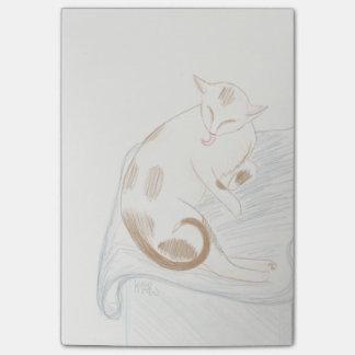 Notes de chat de toilettage Kitty