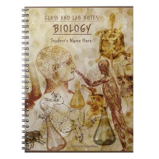 Notes de classe et de laboratoire - biologie carnets
