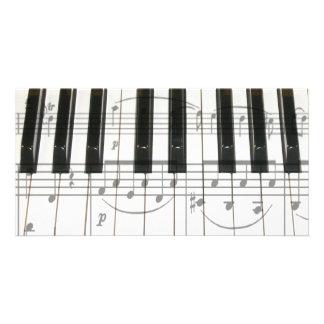 Notes de clavier et de musique de piano photocartes personnalisées