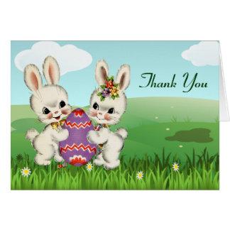Notes de Merci de baby shower de lapin de Pâques