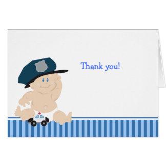 Notes de Merci de baby shower de POLICIER