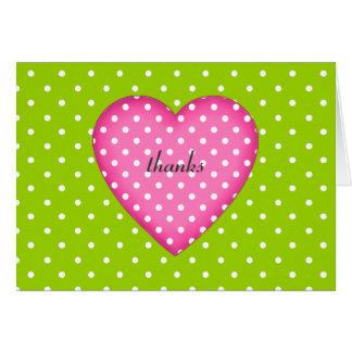 Notes de Merci de coeur de point de polka