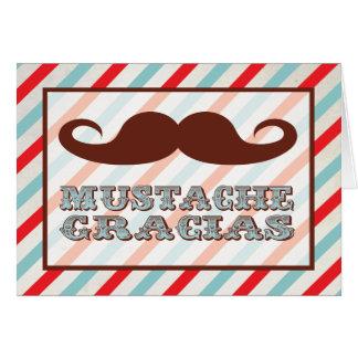 Notes de Merci de Gracias de moustache