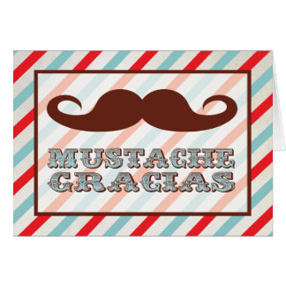 Notes de Merci de Gracias de moustache Carte De Correspondance