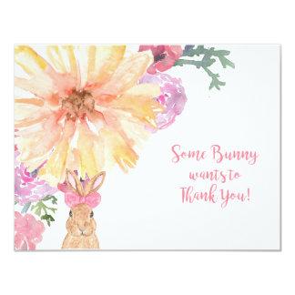 Notes de Merci de Somebunny pour l'anniversaire ou Carton D'invitation 10,79 Cm X 13,97 Cm