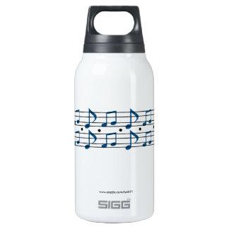 Notes de musique bouteilles isotherme