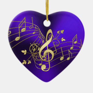 Notes de musique et ornement pourpres de Noël de