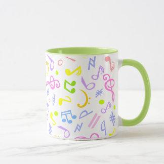 notes de musique mug