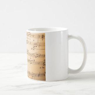 Notes de musique mug blanc