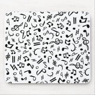 notes de musique tapis de souris