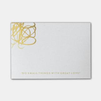 Notes de post-it chics d'effet d'or post-it®