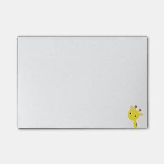 Notes de post-it de girafe