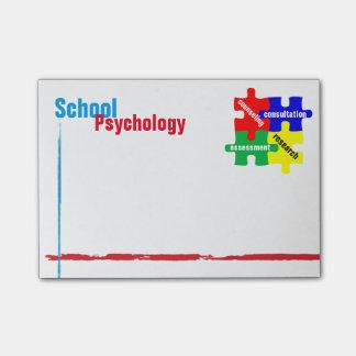 Notes de post-it de puzzle de psychologie d'école post-it®
