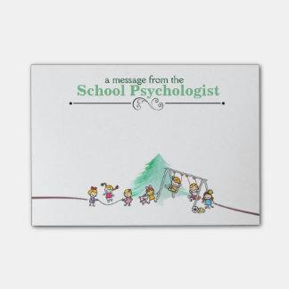 Notes de post-it du psychologue d'école post-it®