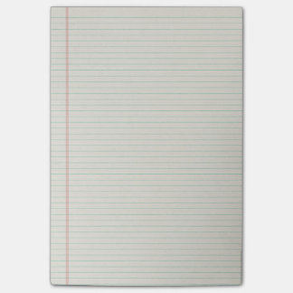 Notes de post-it rayées de papier de classeur de post-it®