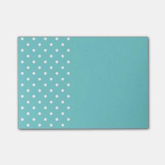 Notes de post-it turquoises de point de polka de post-it®