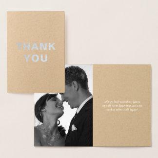 Notes faites sur commande de Merci de mariage Foil Card