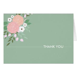 Notes florales élégantes de Merci - menthe