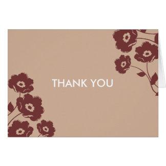 Notes florales modernes de Merci