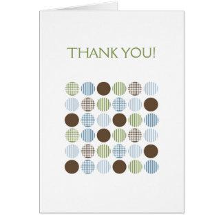 Notes modernes de Merci de point de Brown de vert