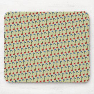 notes musicales colorées tapis de souris