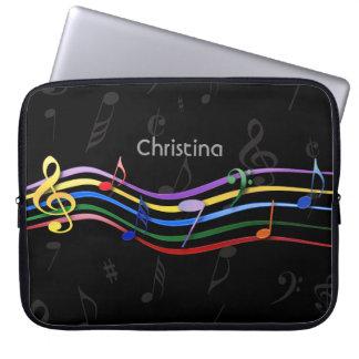 Notes personnalisées de musique colorées par trousse ordinateur