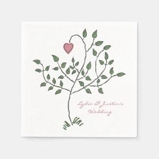 Notre amour est profondément mariage enraciné serviette en papier