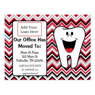 Notre bureau dentaire est transféré, faire-part cartes postales