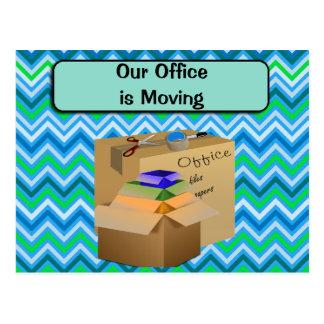 Notre bureau est transféré, faire-part d'affaires carte postale
