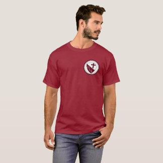 Notre Madame de rouge foncé de base du T-shirt des