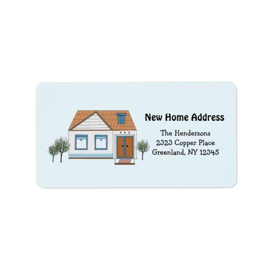 Notre nouvelle adresse à la maison élégante étiquettes d'adresse